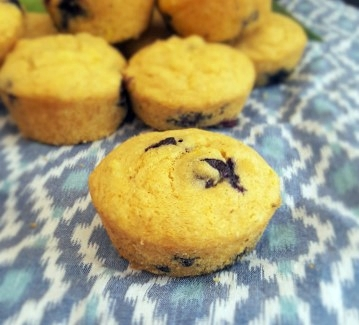 Christine Blueberry Corn Muffin