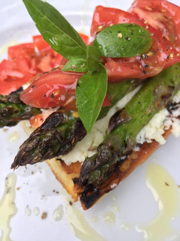 Denine Asparagus Toast