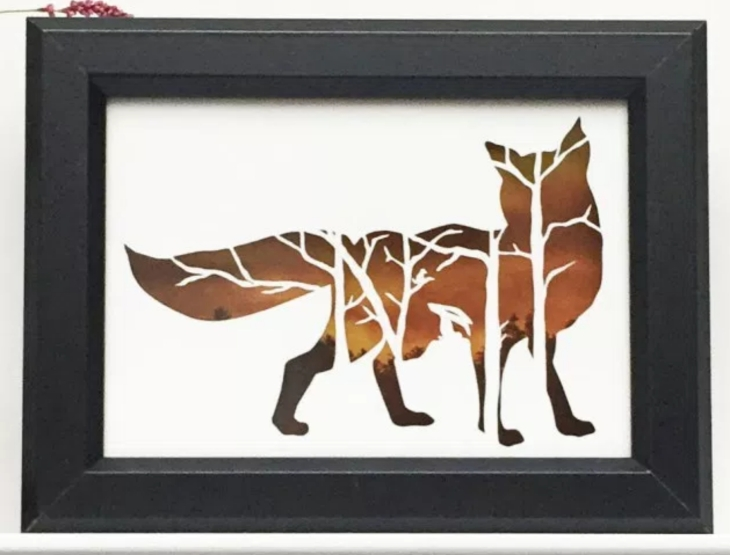 Squirrel Tacos Wildlife Shadowbox