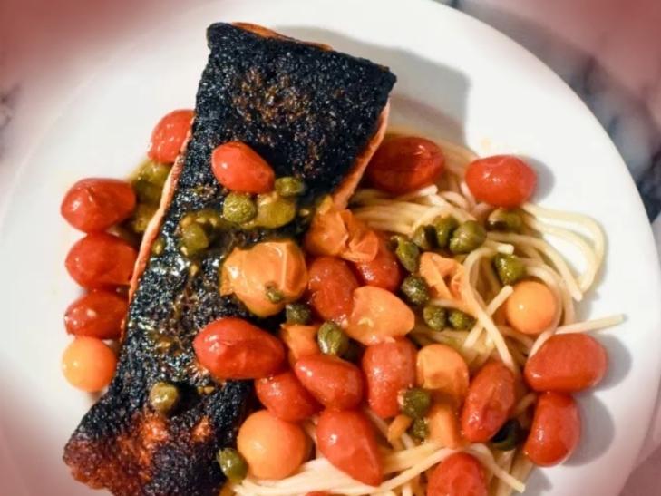 Salmon Tomato Caper