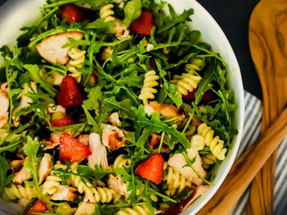 Strawberry Brie Pasta Salad