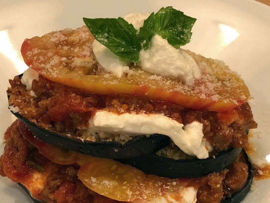 Eggplant Tomato Stack
