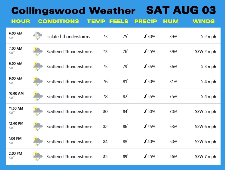 Weather AUG 03