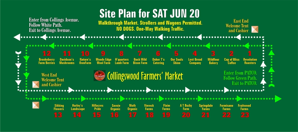 Site Plan for SAT JUN 20