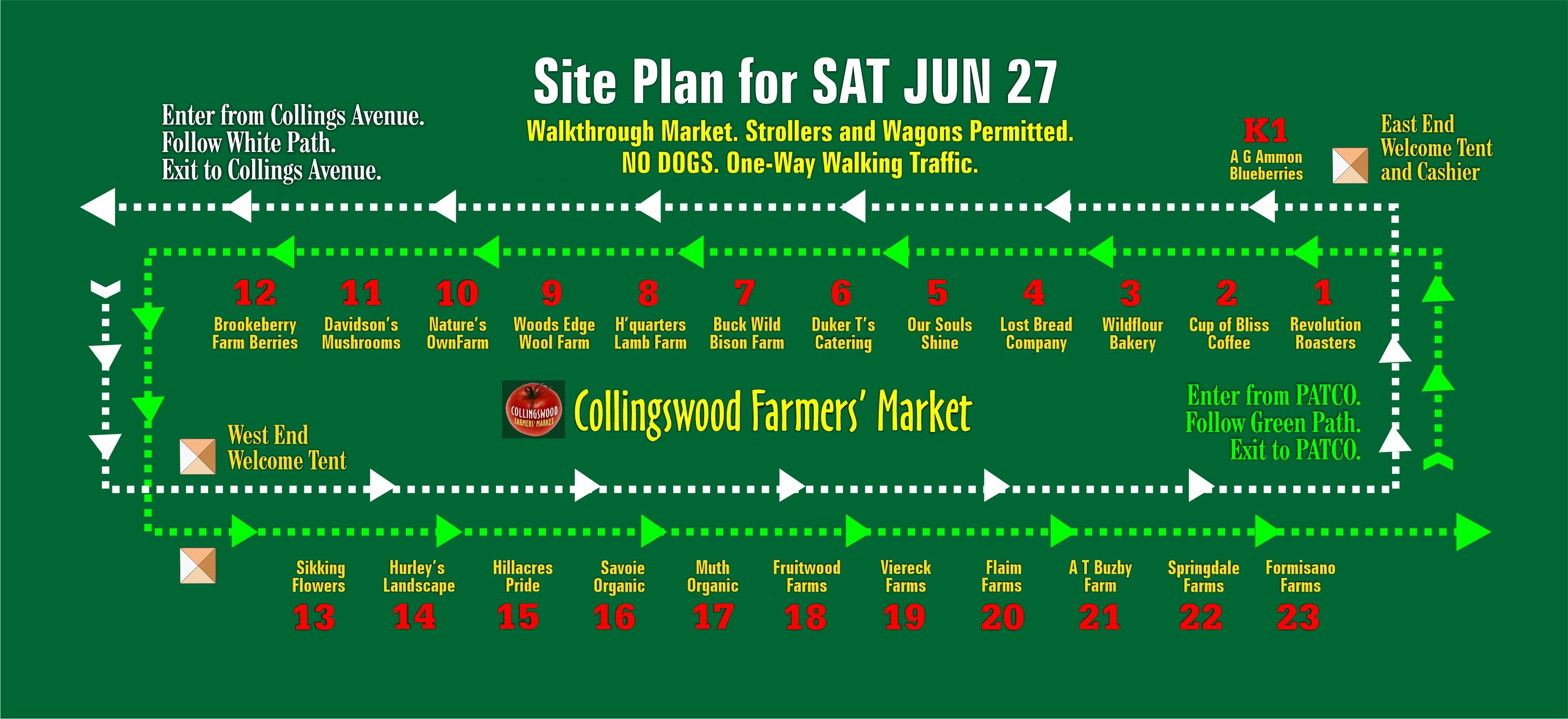 Site Plan for SAT JUN 27